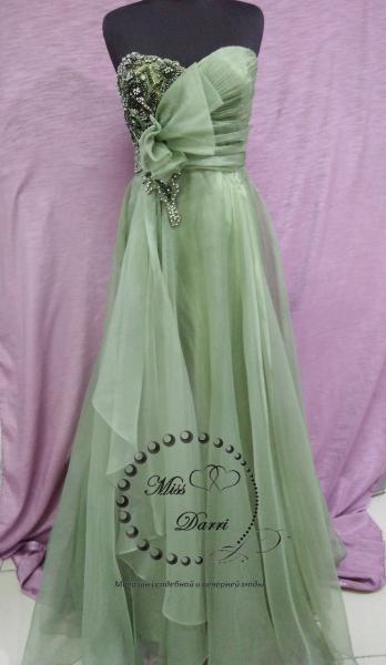 Вечернее платье/выпускное платье оливковое