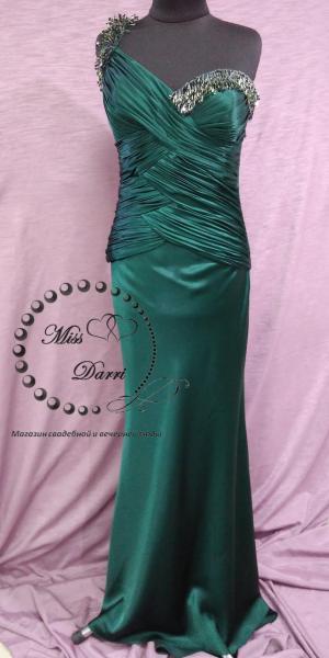 Вечернее платье/выпускное платье рыбка зеленое