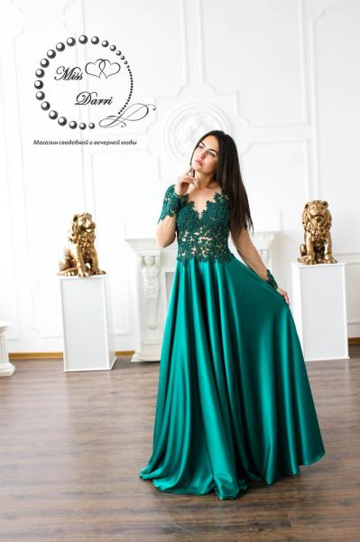 Вечернее платье/ выпускное платье изумрудное