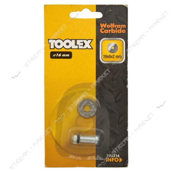Ролик для плиткореза TOOLEX 16х6х2мм