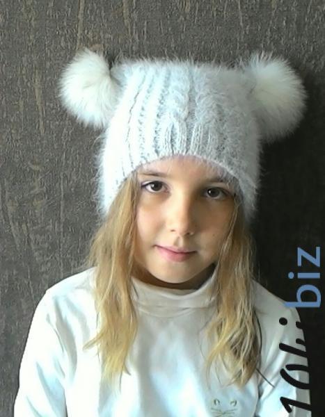 Шапка с помпонами из меха купить в Павлодаре - Шапки для девочек с ценами и фото