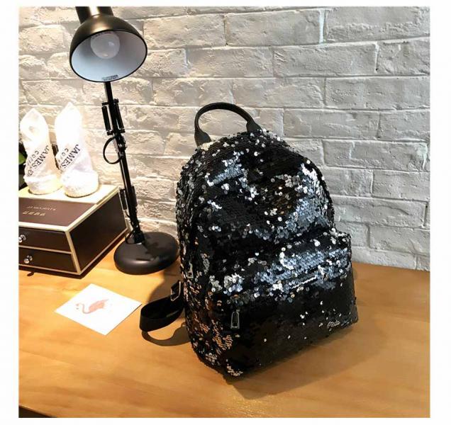 """Рюкзак с пайетками """"Черный"""""""