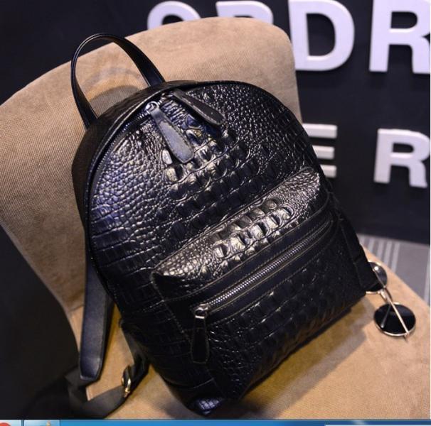 """Рюкзак черный """"Крокодил"""""""