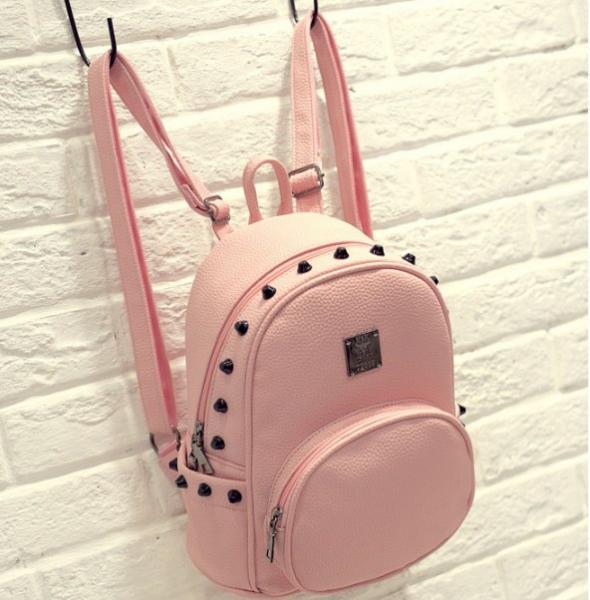 """Рюкзак розовый """"С шипами"""""""