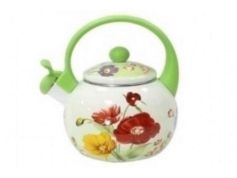 Фото Чайники, Чайники эмалированные Чайник со свистком 2,5л ТМ
