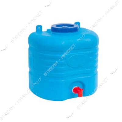 Рукомойник пластиковый боченок15л синий ПластБак