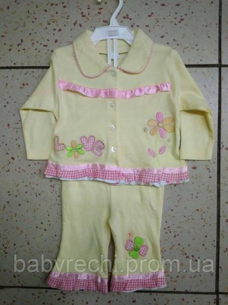 Детская пижама с рюшиками для девочки 50/56