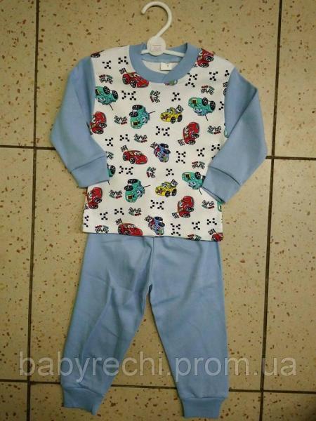 """Детская пижама """"Машинки"""" для мальчика 86,92,104 104"""