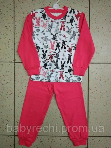 """Детская пижама """"Зайки"""" для девочки 5-8 лет"""