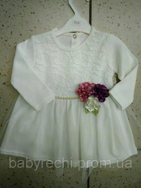 Детское  красивое теплое платье для девочки 80,92 80