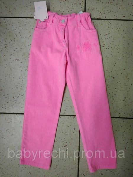 Детские розовые джинсы для девочки 5-6 лет