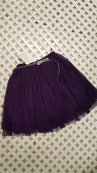 Детская фиолетовая фатиновая юбка для девочки 2-8