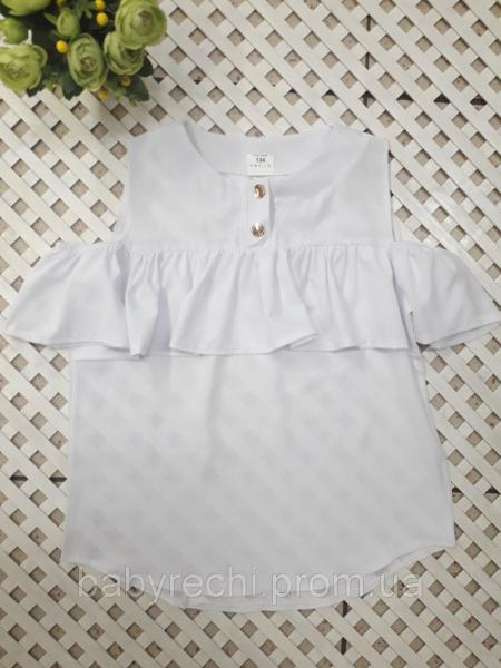 Блуза с воланом девочке 134-152 см 146
