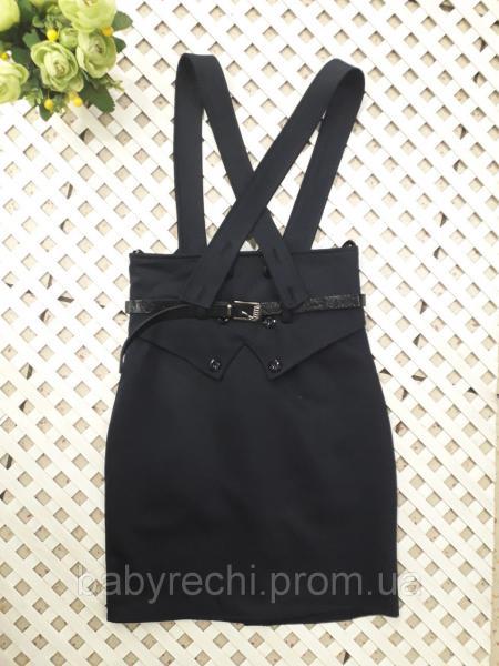 Стильная завышенная юбка-сарафан  девочке 122-146 см 140