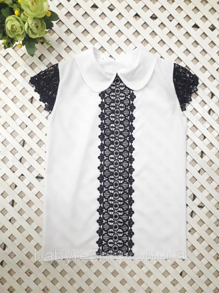 Красивая блузка с кружевом 128-158 см 134