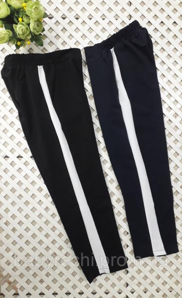 Стильные укороченные брюки девочке 122-158 см 122
