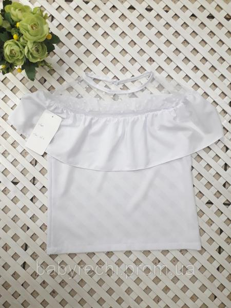 Красивая блузка с сеткою, девочке 122-140 см