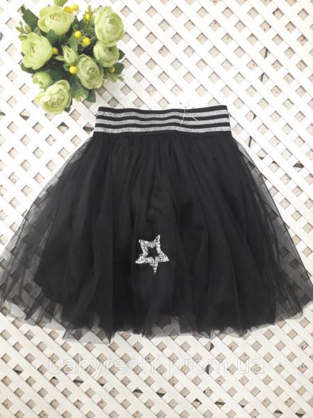 """Прямая юбка для девочки """"Муха, 122-152 см 122"""