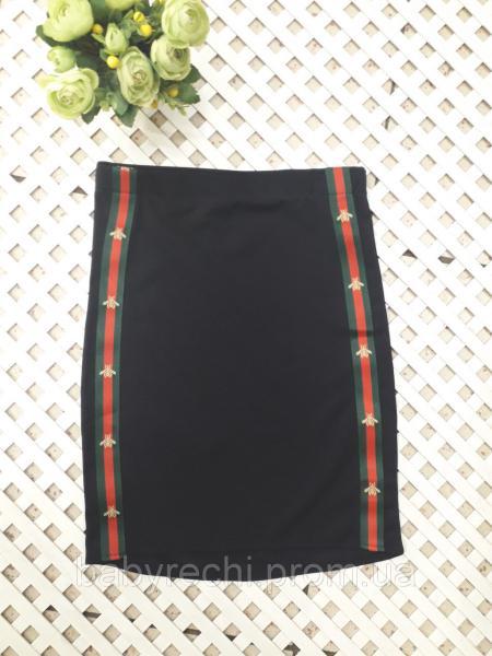 """Прямая юбка для девочки """"Муха, 122-152 см 128"""