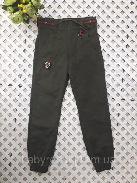 Котоновые штаны на резинке, мальчику 5-10 лет 5