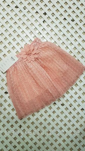 Детская стильная юбка Пудра для девочки 1-5 3