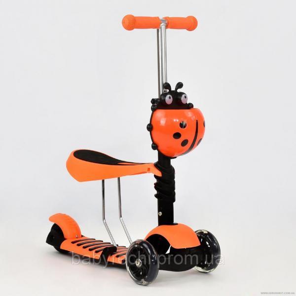 Самокат А 24666 - 1010 Best Scooter 3 в 1 (8), колеса PU светящиеся u