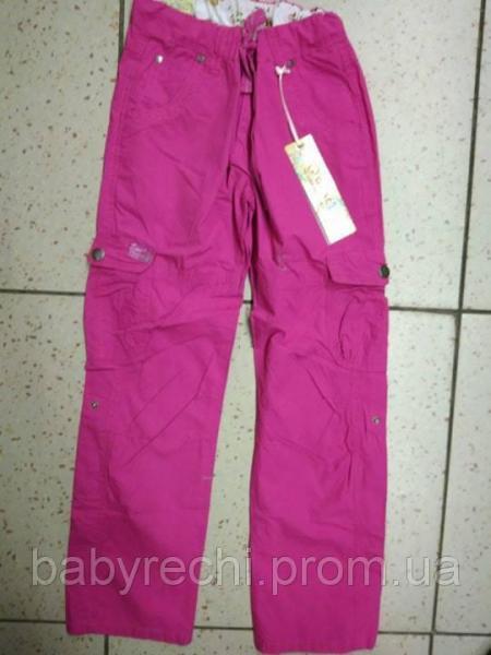 Детские розовые спортивные штаны для девочки 146