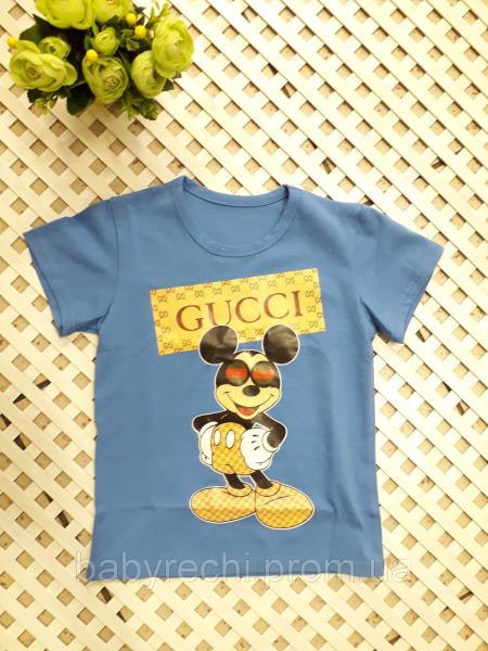 Стильная футболка Микки на 92-116 см 104