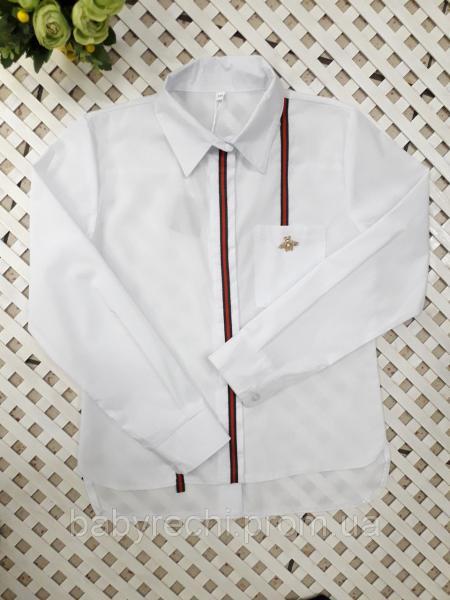 Модная рубашка Муха девочке 128-152 см