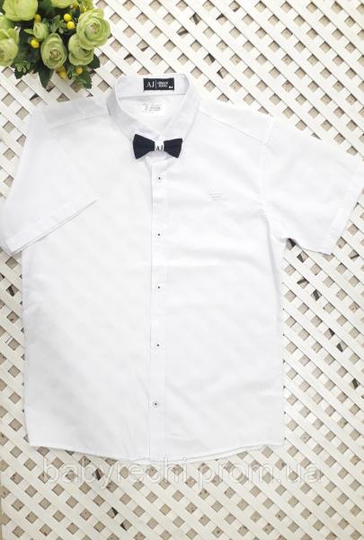 Рубашка в комплекте с бабочкой мальчику 140-164 см