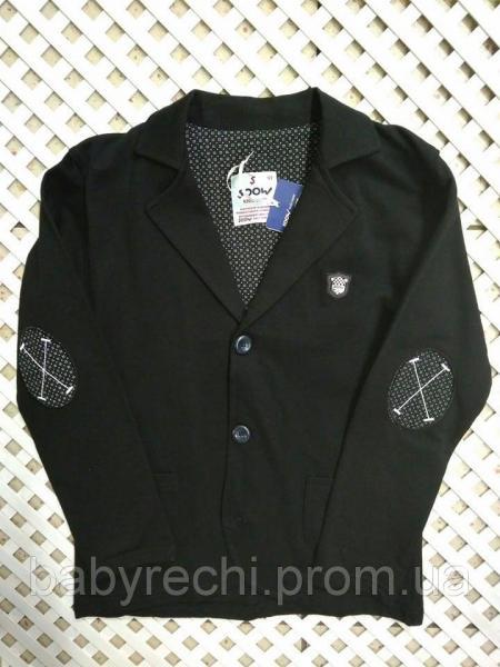 Детский красивый пиджак черный пиджак с эмблемой 122 122