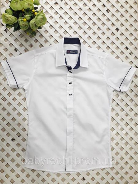 Детская рубашка белая на 7-12 лет 10