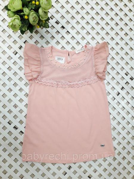 Нарядная футболка-блуза девочке 128-152 см