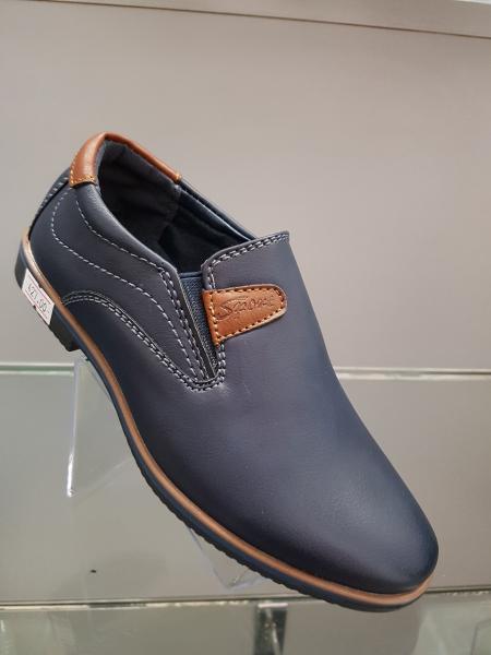 Детские туфли школьные для мальчика Paliament 29-32 синие 30