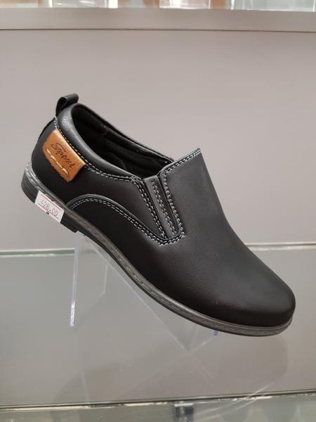 Детские туфли школьные для мальчика Paliament 27-32 черные 28
