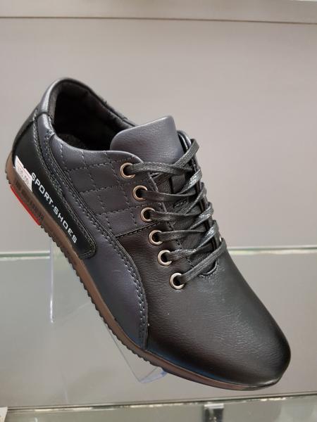 Детские туфли-кроссовки школьные для мальчика Paliament черные 31-36 34