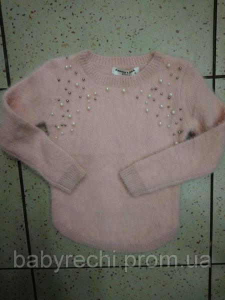 """Детский модный свитер ангора для девочек """"Бусинка"""" 4"""