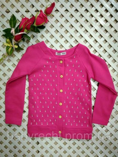 Детская нарядная малиновая кофта Бусинки для девочки 3-6лет