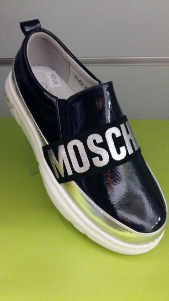 Туфли-слипоны для девочки Moschino 31,33,36