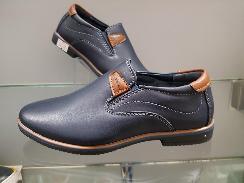 Детские туфли школьные для мальчика Paliament 29-32 синие