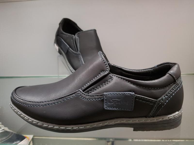 Детские туфли школьные для мальчика Paliament черные 32-36
