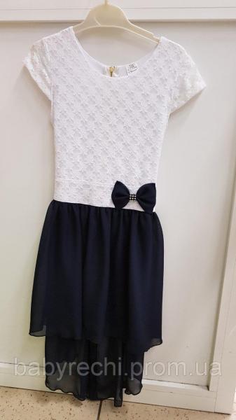 Нарядное школьное платья с удлиненным задом 128,140,158 Польша 158