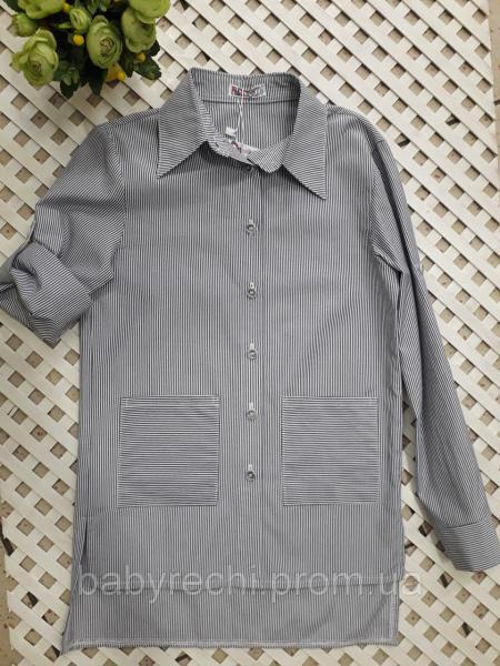 Детская школьная туника-рубашка для девочки 140, 146, 152