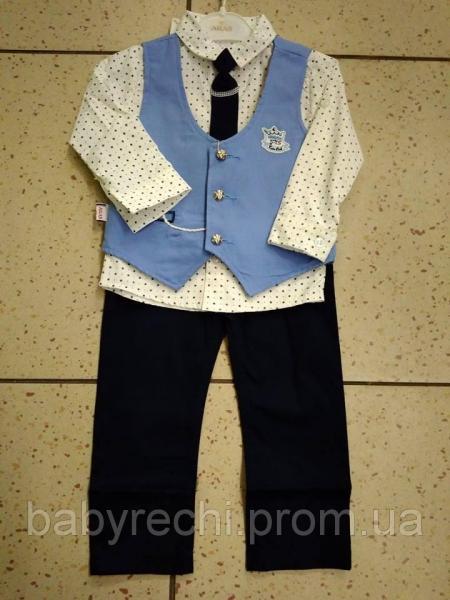 Детский нарядный костюм двойка Aras Kids Wear на мальчика 74 74