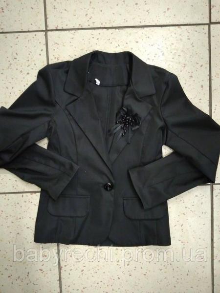 Нарядный школьный пиджак с бусинками