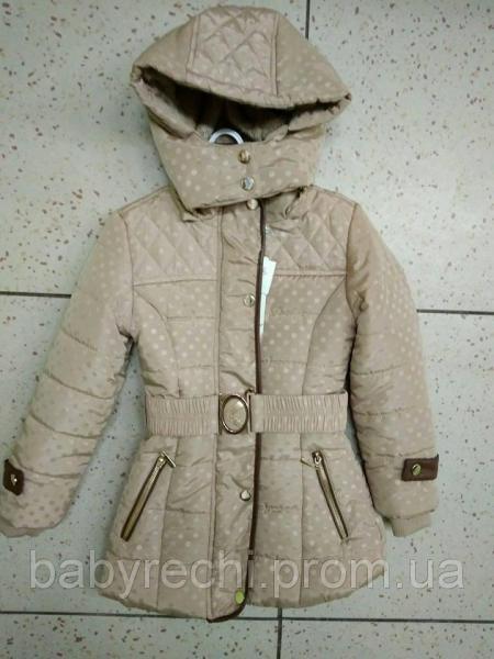 Стильная зимняя утепленная детская курточка для девочки  4