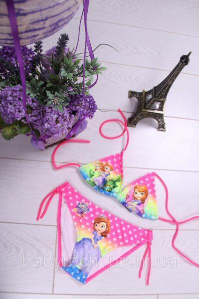 Детский и подростковый раздельный купальник для девочки 2-8 лет