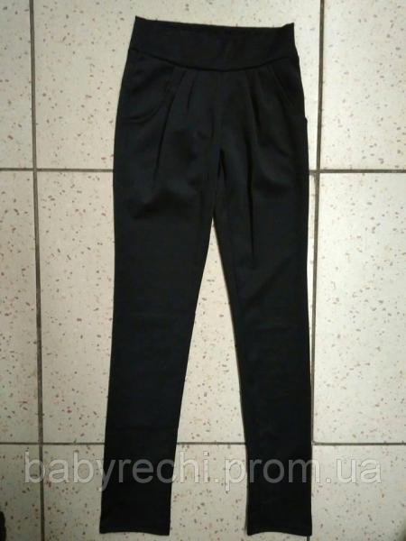 Детские классические черные лосины-брюки складками для девочки XL