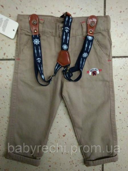 Детский красивые штаны с подтяжками для мальчика 1-4года 4