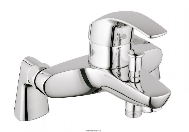 Смеситель однорычажный на борт ванны Grohe коллекция Eurosmart хром 33303001